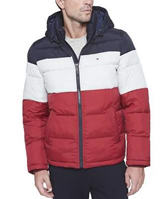 Tommy Hilfiger Men's Big and Tall Classic Hooded Puffer Jacket