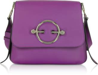 J.W.Anderson Purple Leather Disc Bag