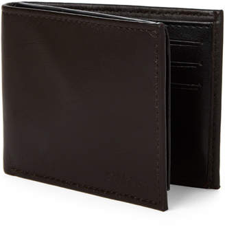 Calvin Klein Chocolate Bi-Fold Wallet & Money Clip Set