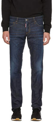 DSQUARED2 Blue Done Deal Slim Jeans