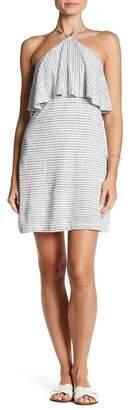 Splendid Striped Halter Linen Blend Dress