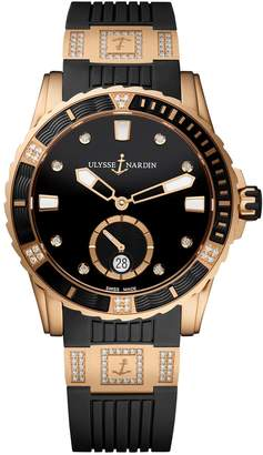 Ulysse Nardin Rose Gold and Diamond Lady Diver Watch 40mm