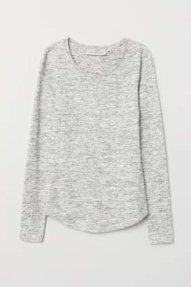 H&M Long-sleeved Jersey Top - Gray