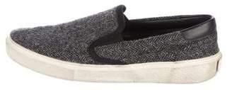 Saint Laurent Herringbone Slip-On Sneakers