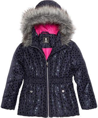 S. Rothschild Toddler Girls Foil Print Puffer Jacket