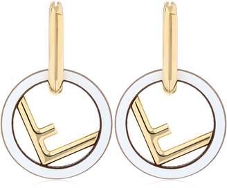 Fendi F Logo Metal Earrings