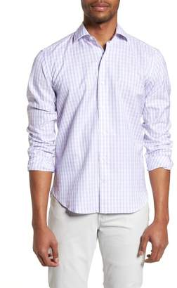 Culturata Tailored Fit Washed Gingham Sport Shirt
