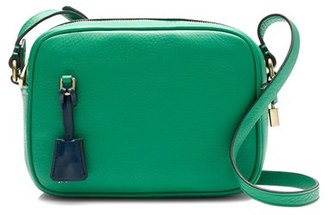 J.crew 'Signet' Leather Crossbody Bag - Green $128 thestylecure.com