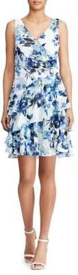 Lauren Ralph Lauren Floral Tiered Georgette Dress