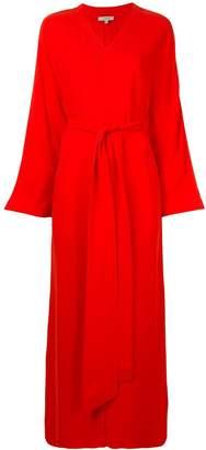 LAYEUR wrap-around long dress