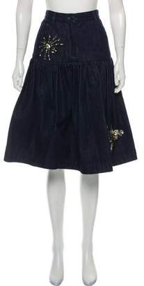 Sibling Denim Pleated Skirt