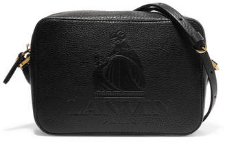 Lanvin - So Lanvin Embossed Textured-leather Shoulder Bag - Black $1,250 thestylecure.com