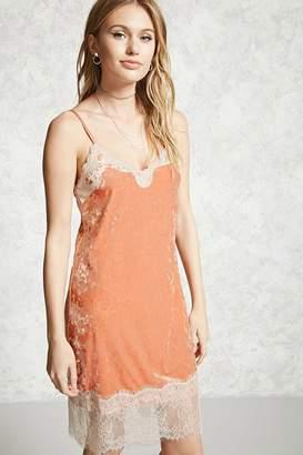 Forever 21 Contemporary Crushed Velvet Dress