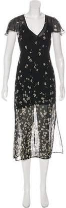 Reformation Short-Sleeve Midi Dress