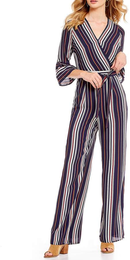 Skies Are Blue Multi Stripe Jumpsuit