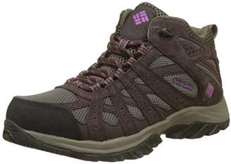 Columbia Women's Multisport Shoes, Waterproof, Canyon Point MID, Brown (Mud/Intense Violet), Size: 7