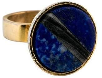 Kelly Wearstler Lapis Lazuli & Agate Cocktail Ring