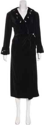 Oscar de la Renta Oscar by Velvet Maxi Wrap Dress