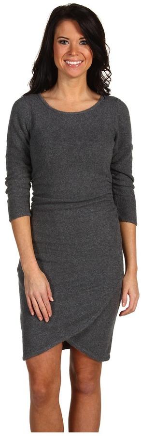 BCBGMAXAZRIA Ruched Sweater Dress (Medium Heather Grey) - Apparel