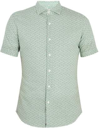 Glanshirt Eddy floral-print cotton-blend shirt