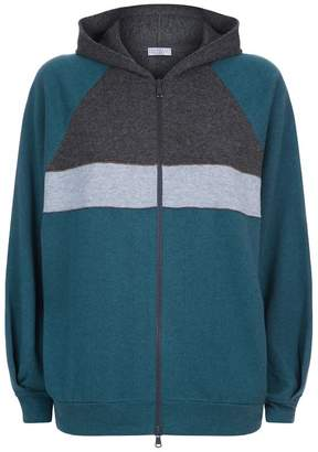 Brunello Cucinelli Striped Cashmere Hoody