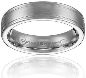 Cobalt 6mm Comfort-Fit Wedding Band with Satin Center and High Polish Round Edges