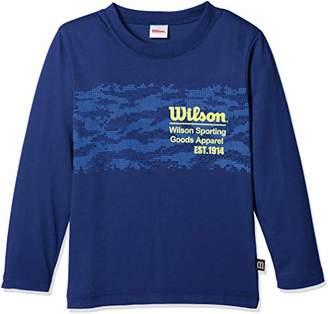 Wilson (ウィルソン) - [ウィルソン] 子供服 長袖Tシャツ WX5823 [ジュニア] ボーイズ ネイビー 日本 130 (日本サイズ130 相当)