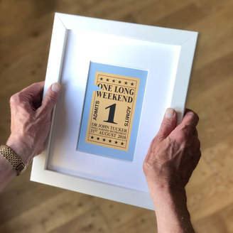 Modo creative Personalised Ticket To Retirement Art Print