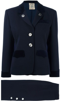 Hermes Pre-Owned buttoned skirt suit