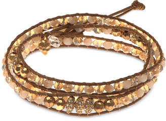 lonna & lilly Gold-Tone Crystal Wrap Bracelet