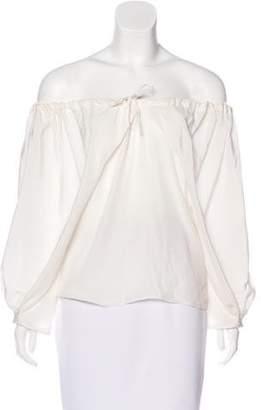 Thakoon Silk Long Sleeve Top