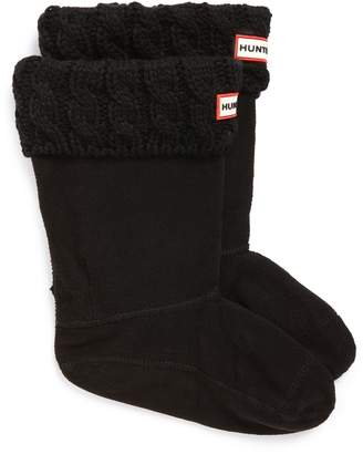 Hunter Cable Knit Cuff Welly Boot Socks