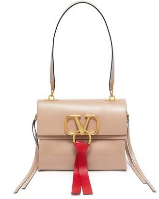 Valentino Tassel logo ring small leather shoulder bag