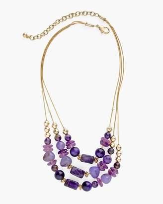Purple Stone Illusion Necklace