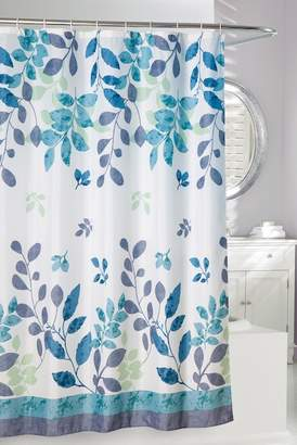 Moda At Home Teal/Green Patience Shower Curtain