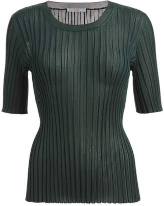 WtR - WtR Sari Green Slinky Rib Knit Tee