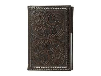 M&F Western Floral Embossed Trifold Wallet