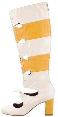 Tabitha Simmons x Roksanda Lino Cutout Knee-High Boots