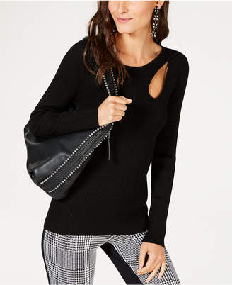 INC International Concepts I.n.c. Petite Teardrop-Cutout Sweater