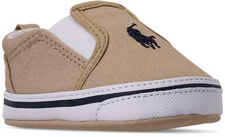 Polo Ralph Lauren Baby Boys' Balmount Layette Slip-On Crib Booties from Finish Line