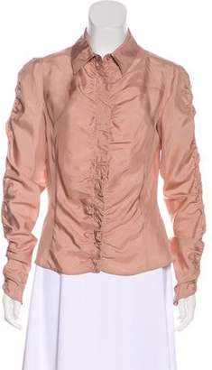 Emporio Armani Silk Long Sleeve Blouse