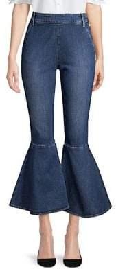 Frame Flounce High-Rise Side Zip Skinny Crop Jeans