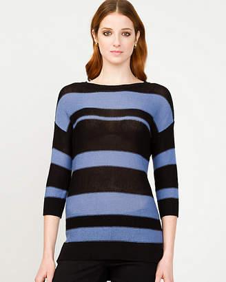 Le Château Stripe Scoop Neck Sweater