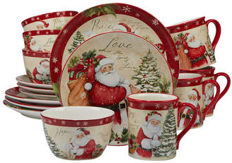 Certified International Holiday Wishes 16-Pc. Dinnerware Set
