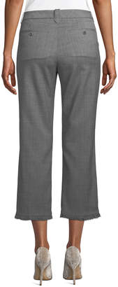 Zadig & Voltaire Posh Fringe-Hem Tweed Pants