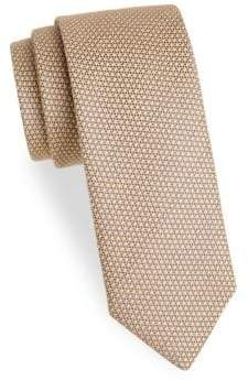 Charvet Men's Textured Wool& Silk Tie - Brown