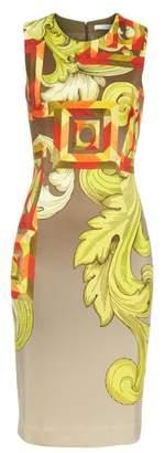 Versace Geometric Scroll Print Sheath Dress