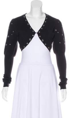 Temperley London Cropped Knit Cardigan
