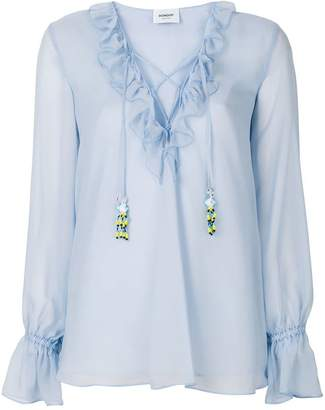 Dondup ruffled neck blouse