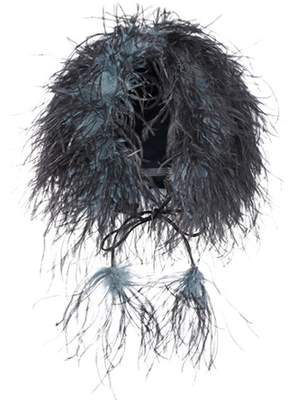 Prada Feather-trimmed hat